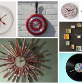 10 ιδέες για να φτιάξεις μόνη σου πρωτότυπα ρολόγια τοίχου!