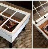 Πως να μετατρέψεται μόνοι σας ένα παλιό παράθυρο σε ένα υπέροχο vintage style τραπεζάκι σαλονιού !(Photos)