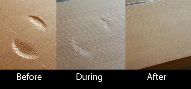 Πώς να αφαιρέσετε ένα βαθούλωμα από το ξύλο