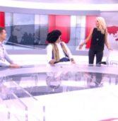 Η Ελένη Μενεγάκη αιφνιδιαστικά στο στούντιο των ειδήσεων με Σρόιτερ και Τσολιά! Απολαυστικές στιγμές!(vid)
