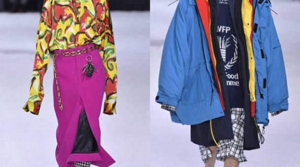 Ο οίκος Balenciaga παρουσίασε μια εκπληκτική κολεξιόν στην εβδομάδα μόδας στο Παρίσι .