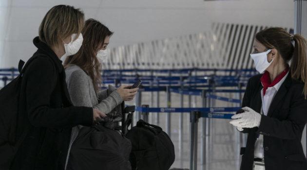 Κορονοϊός: Έντεκα εισερχόμενα κρούσματα απο επιβάτες των αεροπορικών πτήσεων.Ανησυχία στις Αρχές .