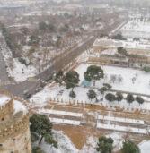 Μήδεια:Εντυπωσιακές φωτογραφίες και βίντεο της χιονισμένης Θεσσαλονίκης και Αθηνών-Λαμίας.Πρόβλεψη για τις επόμενες ώρες.